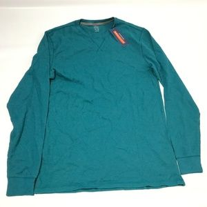 Old Navy Men's Waffle Thermal T-Shirt Cotton Blue